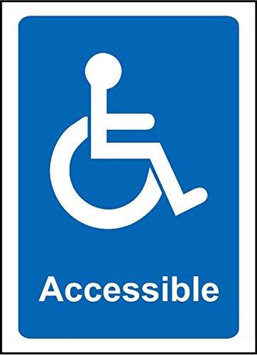 Señal de aviso accesible para silla de ruedas – 3 mm de...