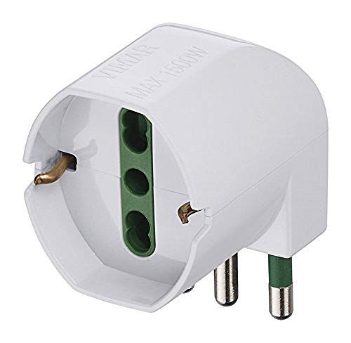 Vimar RI.00305.B Adaptador de Enchufe eléctrico Tipo L (IT) Blanco - Adaptador...