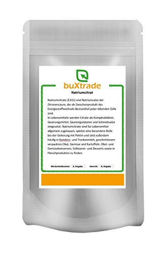 1 kg Natriumcitrat E331 TNC Trinatriumcitrat pur Salz der Zitronensäure Citrone