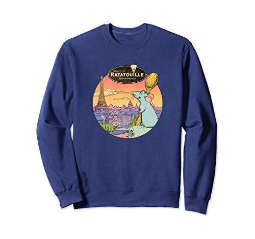 Disney Pixar Ratatouille Over Look Paris Sweatshirt