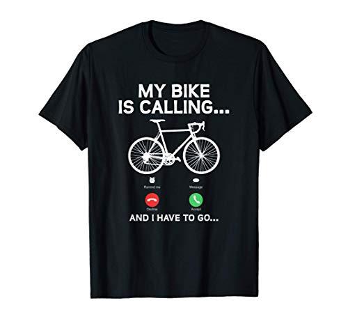 My Bike Is Calling | Rennradfahrer | Fahrrad Fahrer Sport T-Shirt