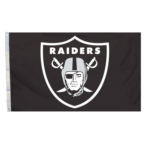 Fremont Die NFL Flag with Grommets, Logo, 3 x 5-Foot (94904B)