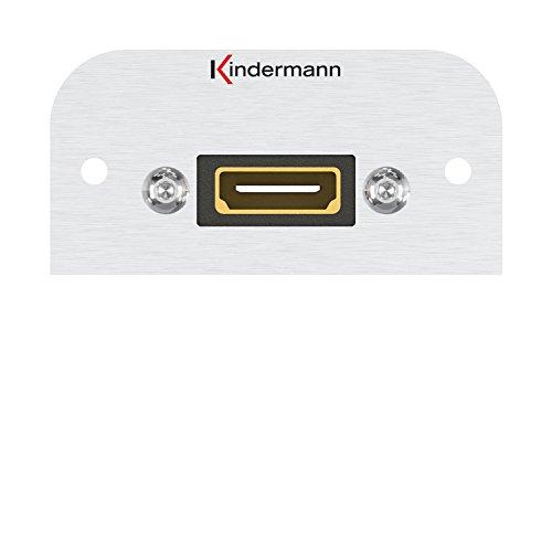 Kindermann 7441000542 HDMI ethernet scherm met kabel aansluiting op aansluiting, 54 x 27 mm zwart