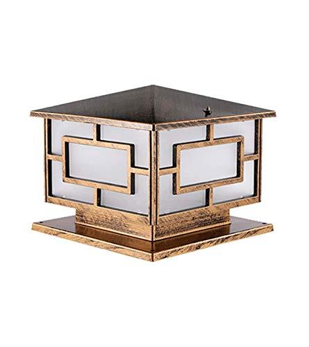 PSOU Wandlamp - Outdoor - Waterdichte zuil van de tuinlamp van Villa Casa deurlamp deurlamp buitenlamp Europese wandlamp Multicolor