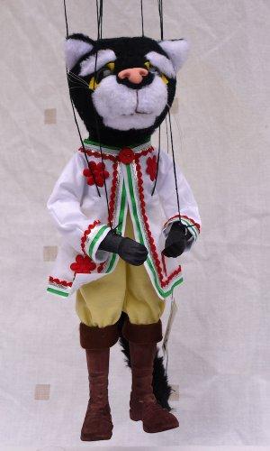 Augsburger Puppenkiste Marionette - Kater Mikesch inkl. Gratispostkarte
