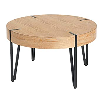 Creative Co-Op Wood Round Coffee Side Table Natural