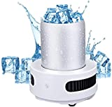 Máquina para Hacer Hielo portátil Máquina para Hacer Hielo pequeña Encimera Mini máquina para Hacer Hielo Refrigeración Inteligente Fabricación rápida de Hielo para la Fiesta de Campamento en CAS