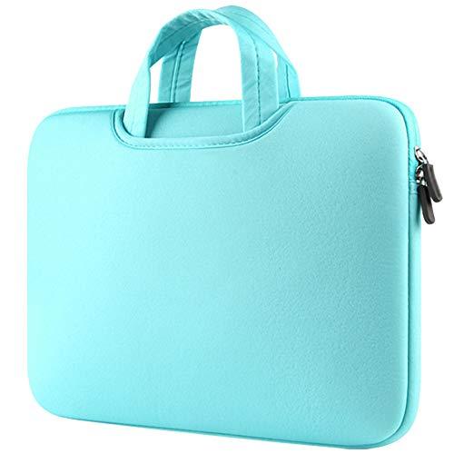 Funda para Portátiles, 15-15.4 Pulgadas Maletín con Asa para Ordenador Portátil Notebook - Ultrabook Tablet de Maleta Bolsa de Transporte,Menta Verde 1