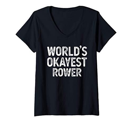 Mujer Mundos de regalo de Remo Divertido El Remo más bonito Camiseta Cuello V ✅