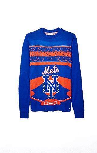 FOCO MLB New York Mets Mens Stadium Light UP Crew Neck Sweater - MENSSTADIUM Light UP Crew Neck Sweater - Mens, Team Color, XXL