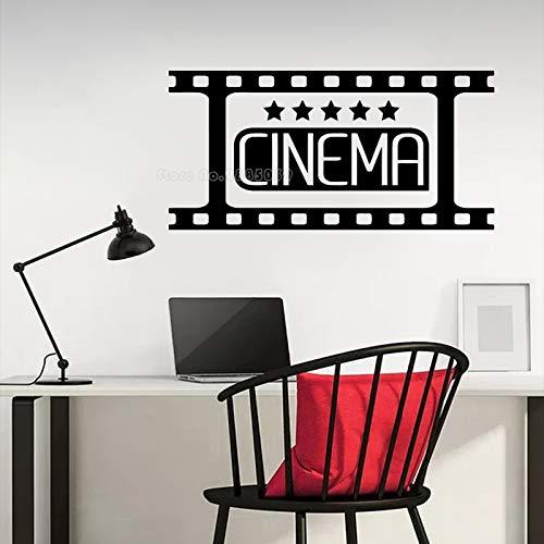 Vintage Five Stars Film Strip Cinema Theatre Logo Sign Video Movie Tape Etiqueta de la pared Vinilo Calcomanía Dormitorio Sala de estar Studio Club Office Decoración para el hogar Mural