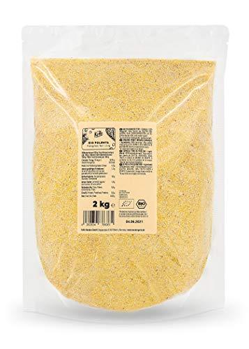 KoRo - Bio Polenta 2 kg - 100 % feiner Maisgrieß für cremige Polenta - Ohne Farbstoffe, Geschmacksverstärker und Konservierungsstoffe - Aus kontrolliert biologischem Anbau - Vegan - Ballaststoffreich