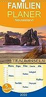 Trauminseln Neuseeland - Familienplaner hoch (Wandkalender 2022 , 21 cm x 45 cm, hoch): Eine traumhafte Bilderreise nach Neuseeland (Monatskalender, 14 Seiten )