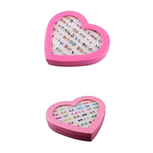 N/A/a 72 Pares de Pendientes Multicolores para Mujer Y Niña, Accesorios de Joyería de Moda
