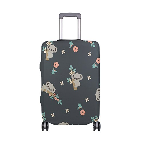 Suitcase Cover Koala with Floral Super Lightweight Luggage Cover Protector fits 18-32 inch