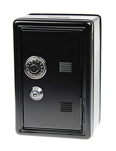 Monsterzeug Spardose Mini Tresor - schwarz, Sparbüchse mit Zahlenkombination, Mini Safe mit Schlüssel