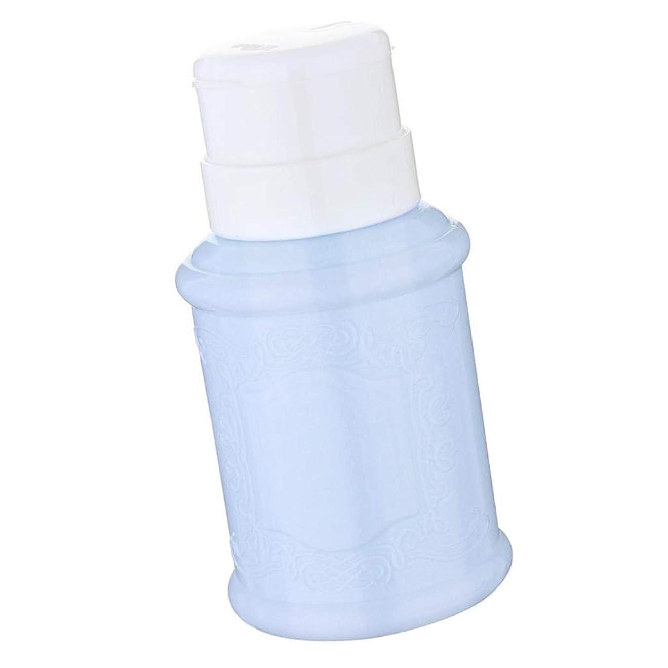 アナニバーモッキンバード覚えているCUTICATE 全3色 空ポンプ ボトル ネイルクリーナーボトル ポンプディスペンサー ジェルクリーナ - 青