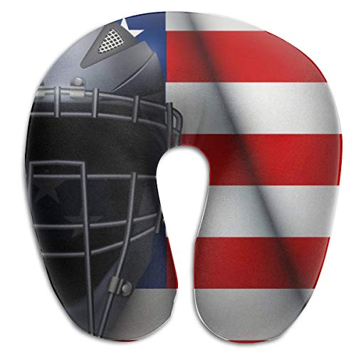 LXJ-CQ Nackenkissen Baseball Catcher Mask Helm U-förmiges Reisekissen Ergonomisch konturiertes Design Waschbarer Bezug