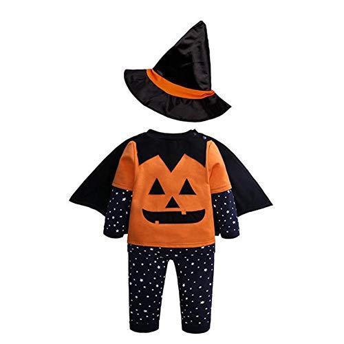 Costume Halloween Bébé Mon 1er Halloween Bébé Garçon Fille Enfants Automne Hiver Halloween Vêtements Ensembles 4 pièces Barboteuse Body Costume pour 9 Mois -3 Ans