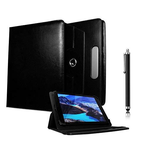 Galaxy Store Nero Custodia a Portafoglio Universale 360 Gradi di Rotazione con Pennino Capacitivo per Fonxa 9.6 Pollici Octa Core Tablet (9-10 Pollici)