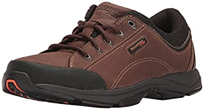 Rockport Men's Chranson Lace-Up-Dark Brown/Black-9 M