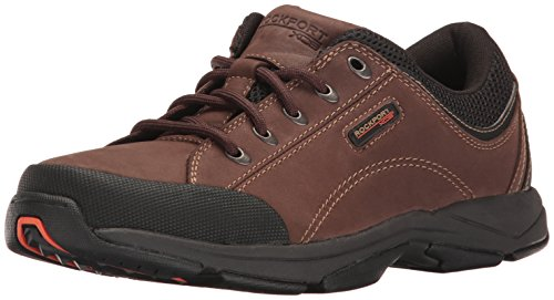 Rockport Men's Chranson Lace-Up-Dark Brown/Black-10 M