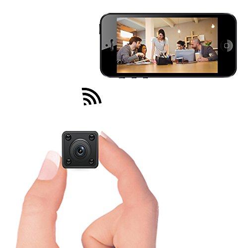 Mini cámara WiFi - Cámara espía Oculta inalámbrica Bysameyee con detección de Movimiento Almacenamiento en la Nube con visión Nocturna, grabadora de Video IP 1080P HD con Vista en Vivo
