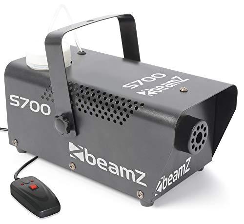 BeamZ S700 Machine à fumée en métal, 700 Watts, Réservoir de 250 ML, Liquide Inclus, Temps de Chauffe 2 Min, 75m3 de fumée par Minute, Plug and Play, Idéal pour soirée DJ ou Mariage