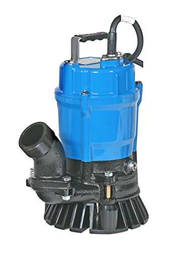 Tsurumi HS2.4S; semi-Vortex Submersible Trash Pump w/Agitator, 1/2hp, 115V, 2' Discharge