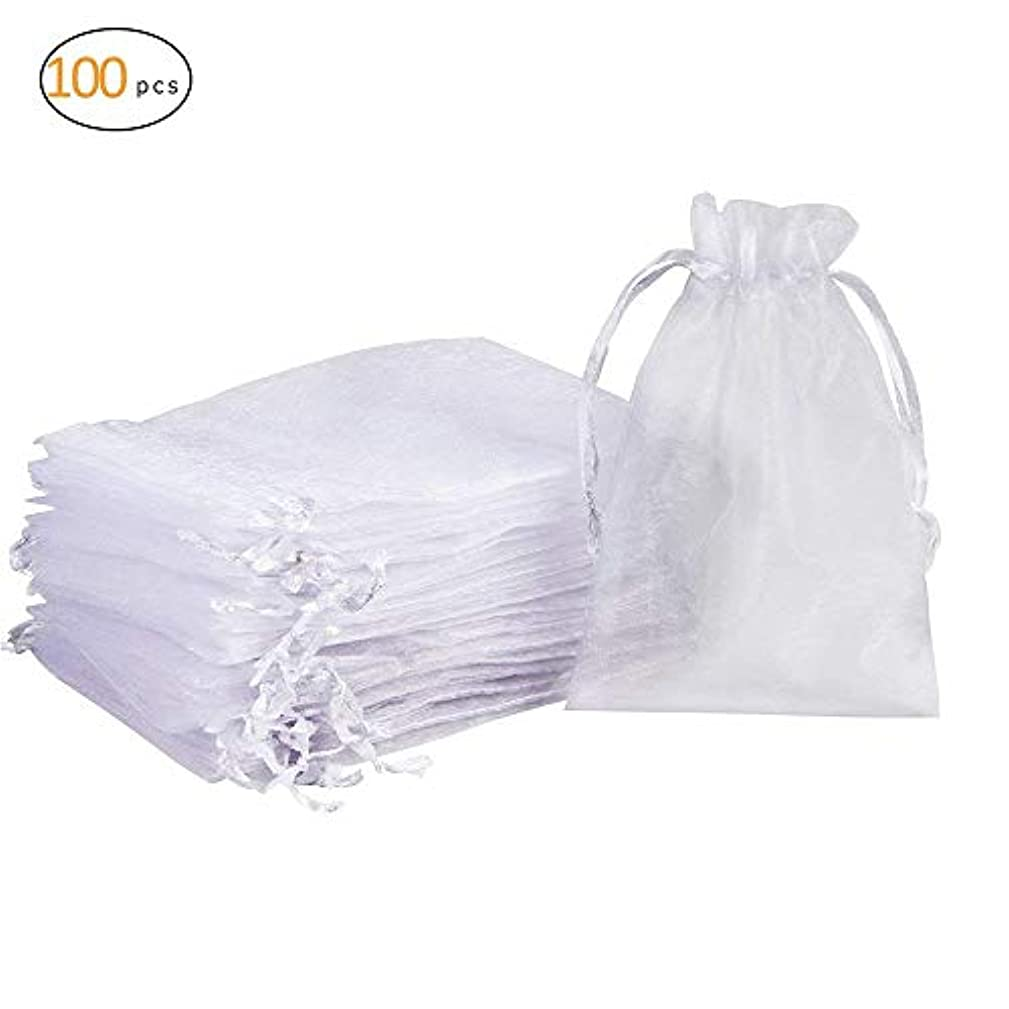 100PCS Organza Gift Bags with Drawstring for Wedding Party Christmas Favor Present Bags (10 * 15 in)