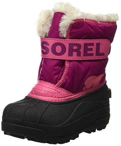 Sorel Childrens Snow Commander, Scarponcino Invernale, Fucsia (Tropic Pink/Deep Blush), 25 EU
