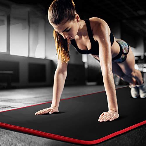 Clenp Tappetino da Yoga, Tappetino Antiscivolo Addensante per Palestra Fitness Esercizio Sportivo Pilates - 183 Cm X 61 Cm X 1 Cm Nero