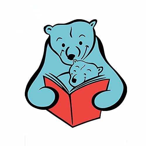 Sticker de carro Pegatina Interesante Oso Madre con los osos en la lectura Pegatinas finas anti-rasguños Etiquetas impermeables Apliques de coche 13cm x 12.1cm