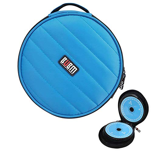 CD DVD Case BUBM 32 CD Disc Holder Compact and Easy to Store for Car Home and Travel Blue