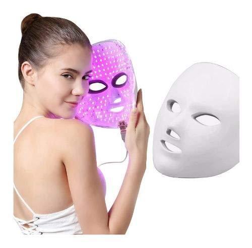 Mascara Led Tratamento Facial Rugas Acne Rosto Fóton7 Cores