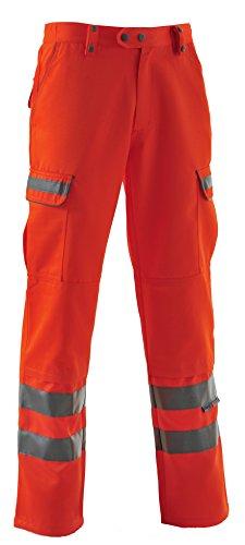 pulsarail Damen Combat Hosen, Größe 8Taille Regular Leg, Viz orange
