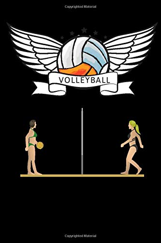 Volleyball journal - volleyball: cover -lined 120 pages writing notebook diary