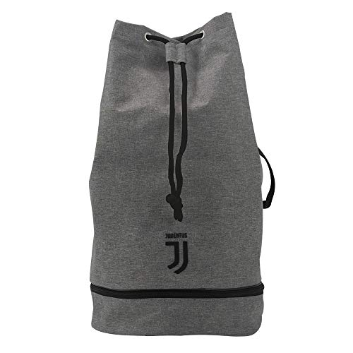 Juventus Sacca Sport - Collezione Travel - 100% Originale - 100% Prodotto Ufficiale - Colore Grigio - Ca. 38 Litri di Capienza