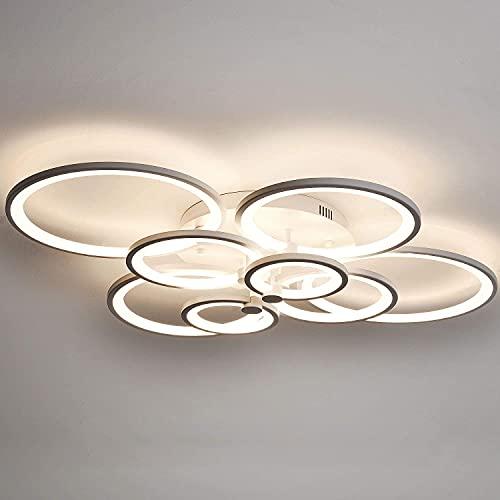 LED Ceiling Light Fixture,69W Modern Lamps 8 Ring,Living...