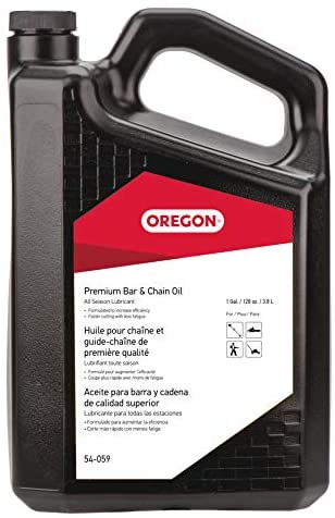 Oregon Premium Bar and Chain Oil, All Season Chainsaw Chain Lubrication, Superior Quality Universal Saw Chain Oil for Fast Efficient Cutting – 1 US Quart Bottle (54-026)
