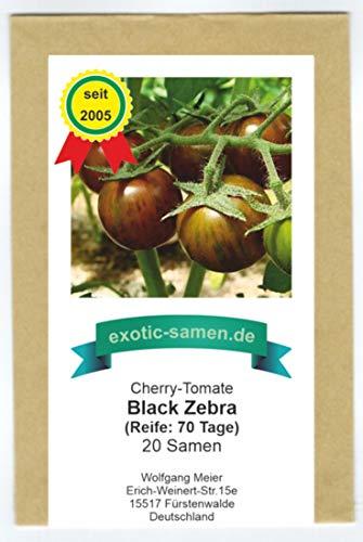 NEUHEIT! Black Zebra Cherry-Tomate - 20 Samen