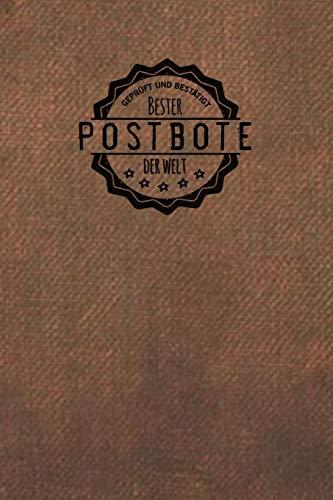 Geprüft und Bestätigt bester Postbote der Welt: Notizbuch für den Mann, der in der Postabteilung arbeitet | Geschenkidee | Geschenke | Geschenk