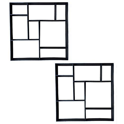 SAILUN® 2 x Betonform Pflastermacher Gießform für Garten Gehwegen Trittsteinen DIY Schalungsform (2 Stücke - Quadrat)