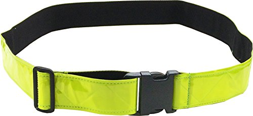 FireForce Military 3M Hi Visibility Reflective Belt, Very Durable, Weather Resistant PT Belt Made in USA (Lime-Yellow)