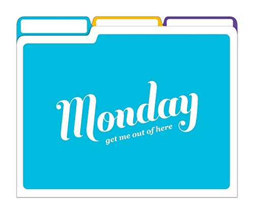Knock Knock Days of the Week File Folders Set, Daily / Weekly Organizer Files (Set of 6, 11.5 x 9-inches) Photo #7
