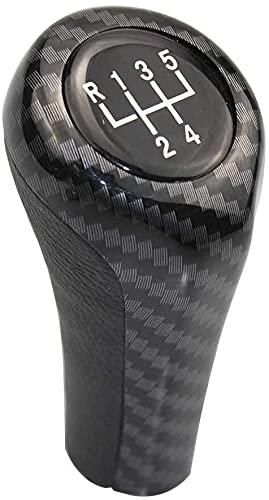 Pomo de Cambio, 5 6 Velocidad PU Cuero Cromo de Cambio de Engranaje Perilla para BMW E30 E32 E34 E36 E38 E39 E46 E53 E60 E61 E63 E81 E82 E83 E84 E87 E90 E91 E92 1 3 5 6 Serie (5 Velocidades)