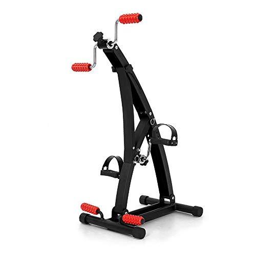 JFJL Medizinisch Pedalübungsgerät - Tragbare Fuß, Hand, Arm, Beinübungs-Pedaliermaschine mit Hand- und Fußmassagerolle, Fitness Reha Fitnessgeräte für Senioren,Patienten