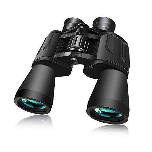 BRIGENIUS Fernglas 10x50, HD Fernglas Erwachsene, Kompakt Fernglas mit Nachtsicht, Wasserdicht FMC-Linse für Vogelbeobachtung Wandern Jagd Sightseeing