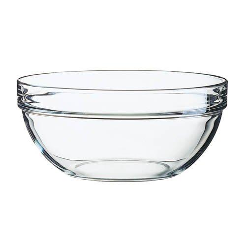 Arcoroc Stapelschale, transparent, H 10,5 cm, Ø 23 cm, 1 Stk. - Glasschale Salatschale Salatschüssel
