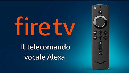 Telecomando vocale Alexa per Fire TV, con tasti per accensione/spegnimento e volume – richiede un dispositivo Fire TV compatibile